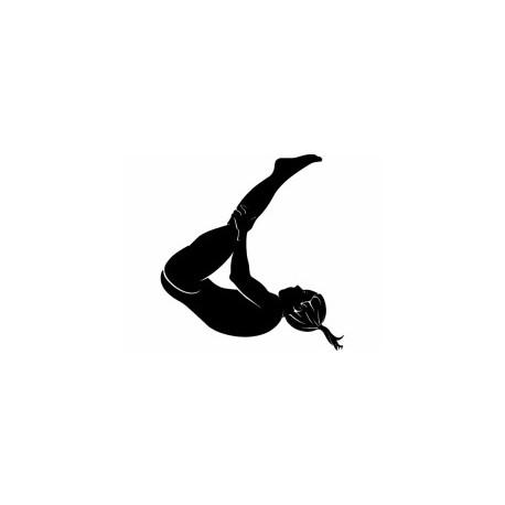 Gymnastic Tumbler Silhouette Free DXF File