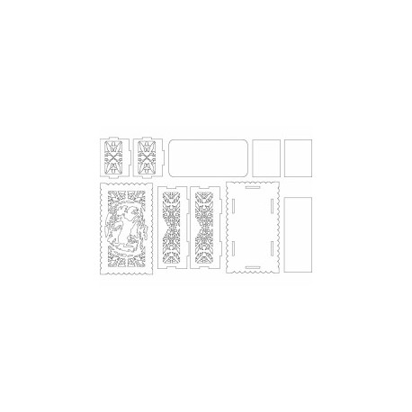 Jali Pattern Design Decor 222 Free DXF File