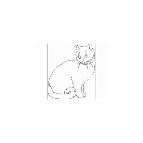 Katze Line Art Free DXF File