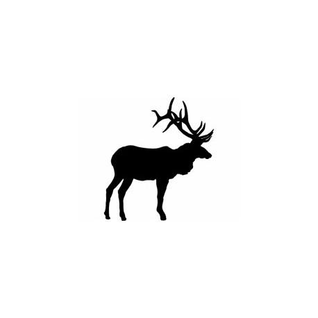 Large Bull Elk Olen Free DXF File