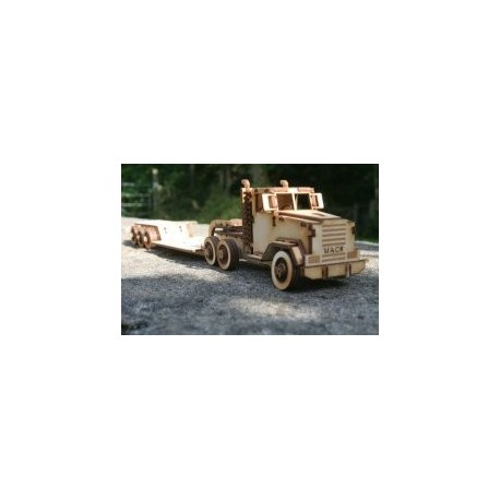 Mack Truck puzzle 121 Free DXF File