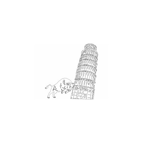 Pissa Tower Free DXF File