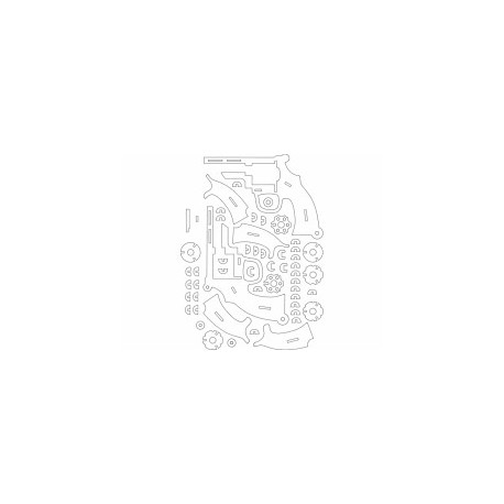 Revolver 2mm Free DXF File