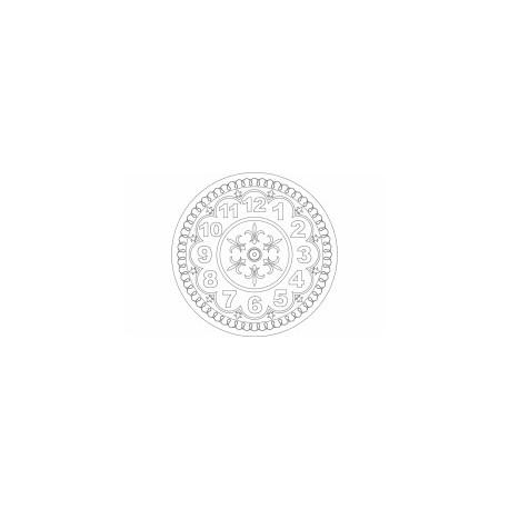 Saat Pattern Design Round Free DXF File