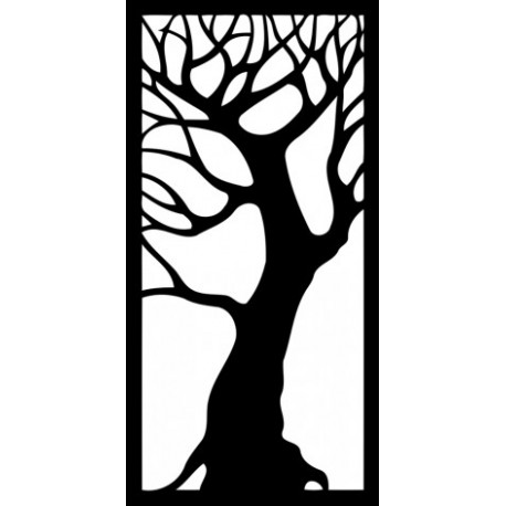 Tree Decorative Panel Free DXF File