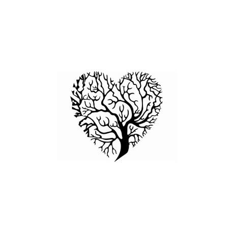 Tree Heart Silhouette Free DXF File