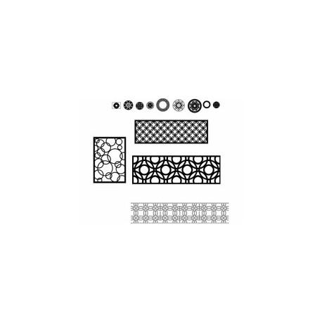 Yuvarlak karısık Pattern Design Free DXF File