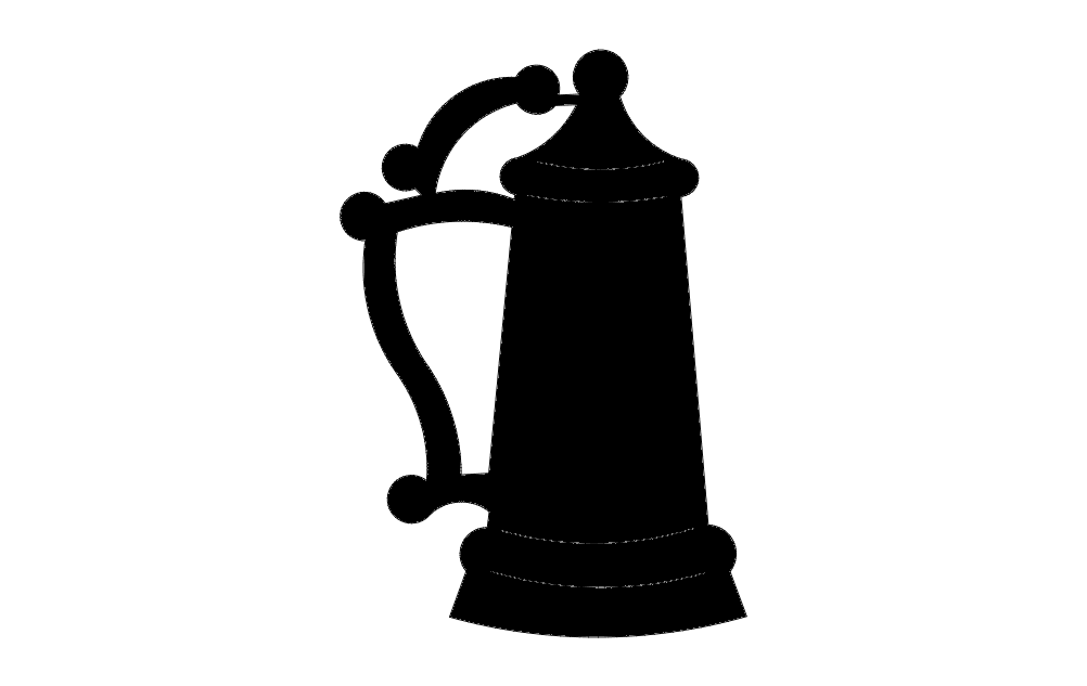 Beer Stein Silhouette Free DXF File
