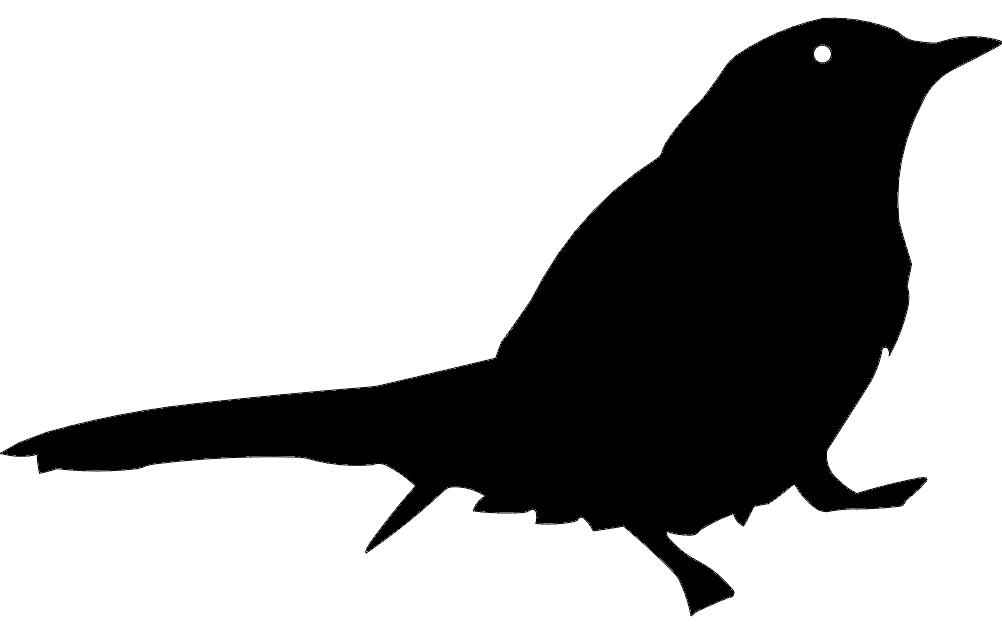 Bird Silhouette Black Free DXF File