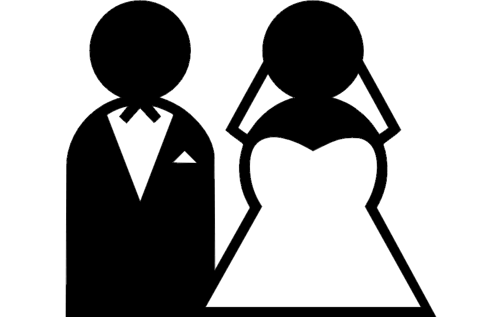 Bride And Groom Clipart Free DXF File