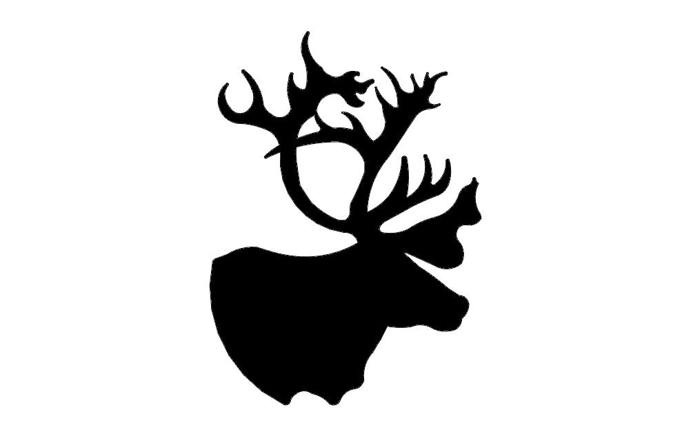Deer Head Free DXF File