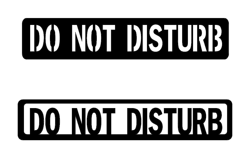 Do Not Disturb Sign Free DXF File