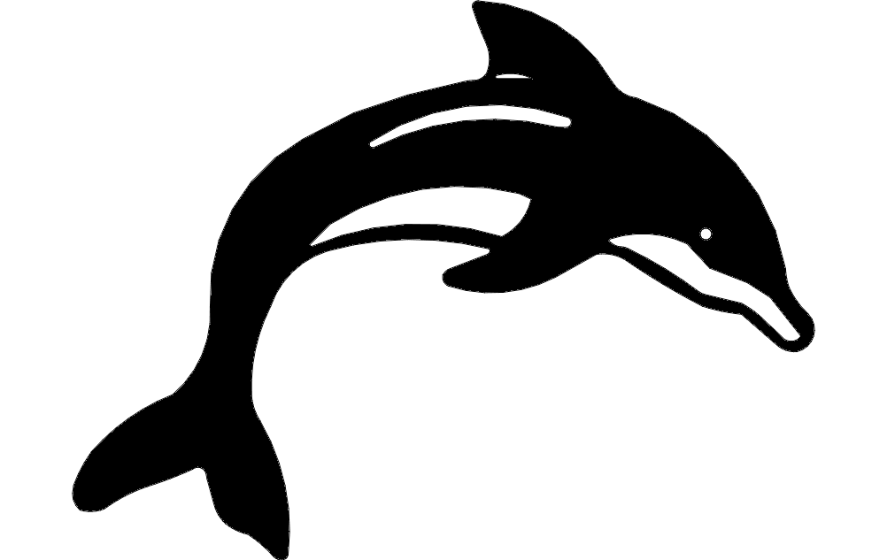 Dolphin Silhouette Free DXF File