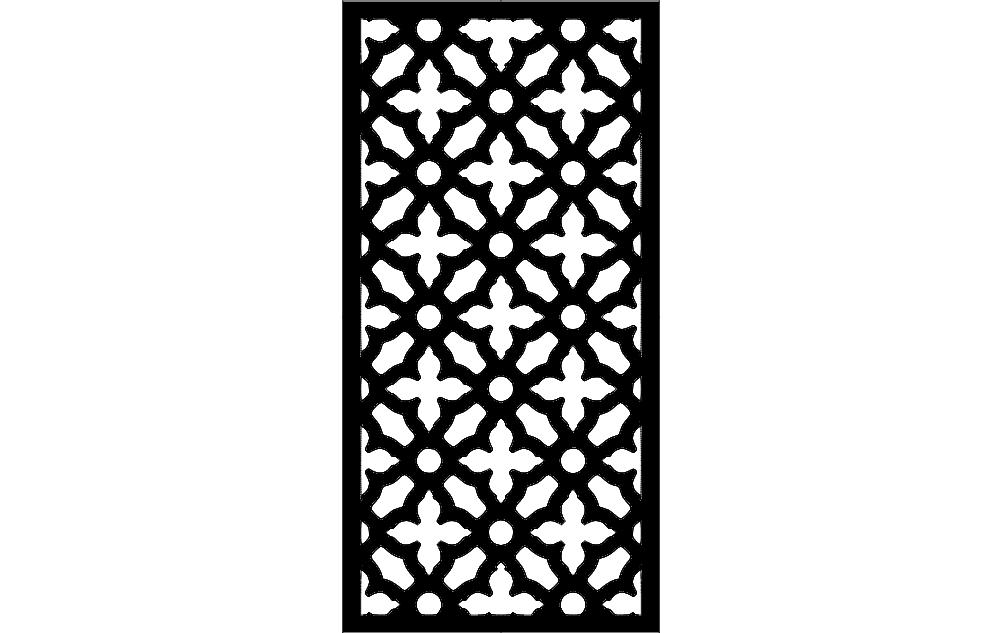 Door Design Art Free DXF File
