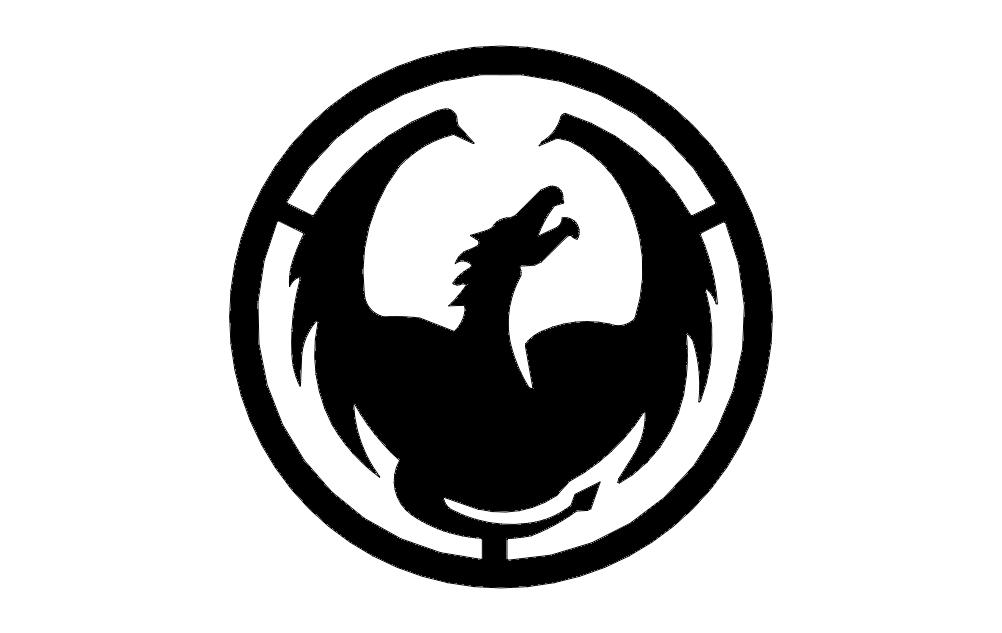 Dragon Circle Free DXF File