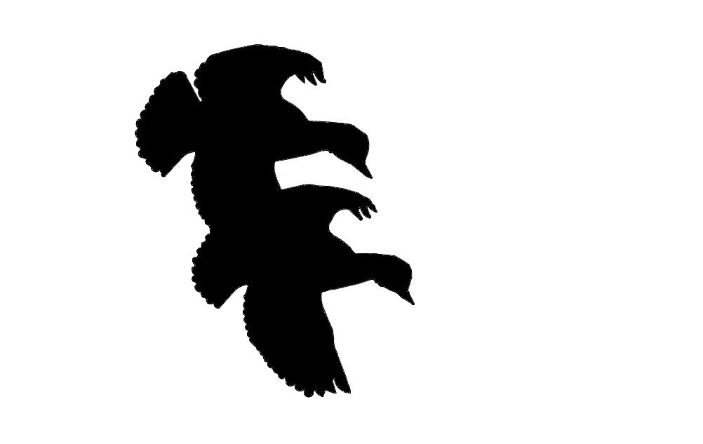 Ducks Flying Cut Silhouette Free DXF File