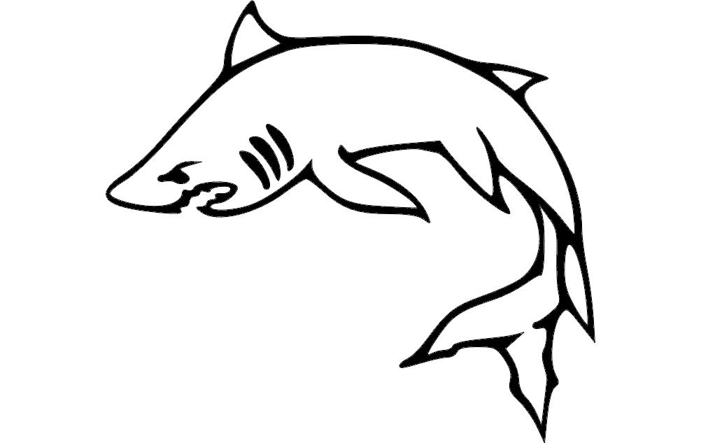 Fish Image Free DXF File