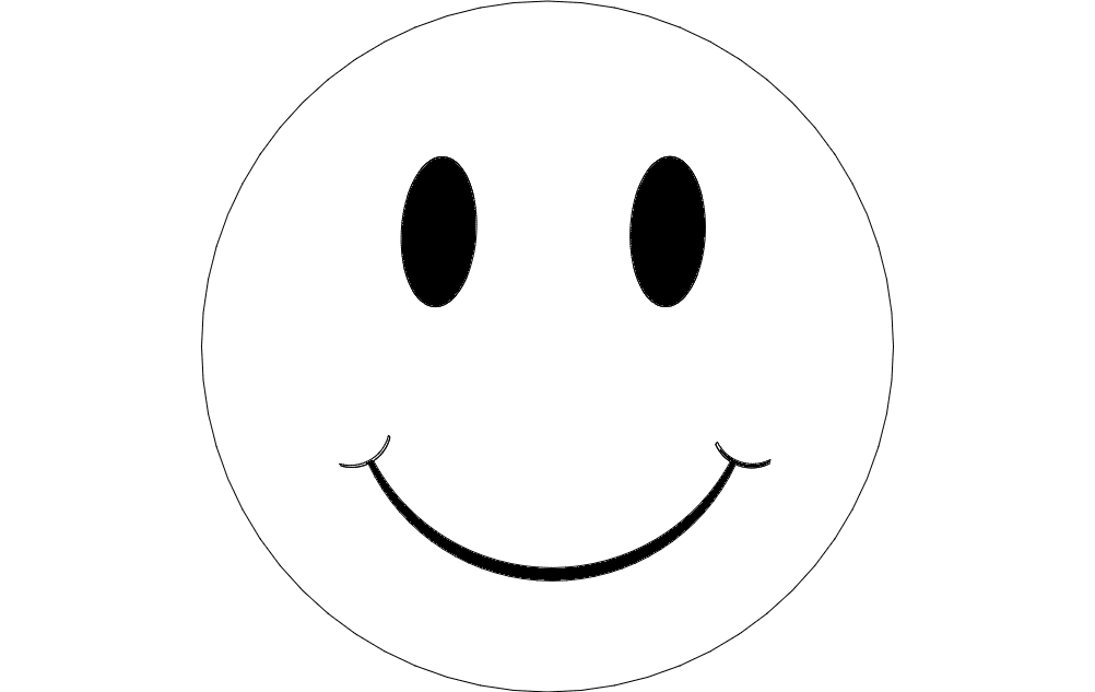 Have A Nice Day Smile Sign Free DXF File