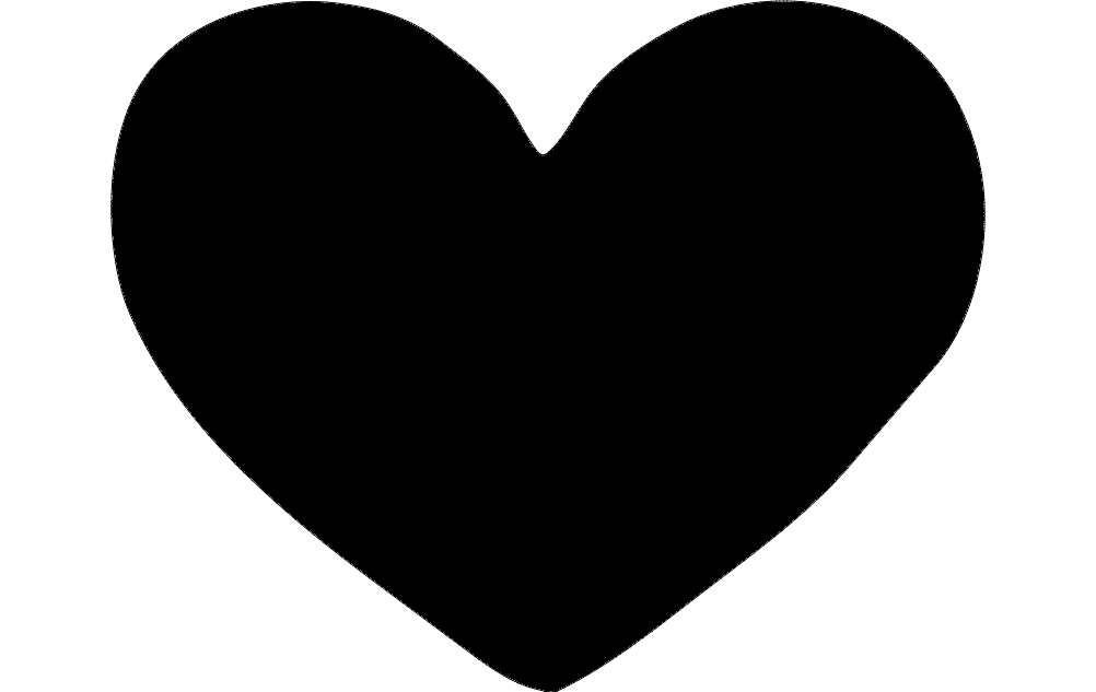 Heart Silhouette Full Free DXF File