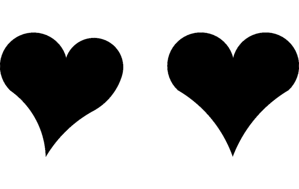 Hearts In Pair Free DXF File