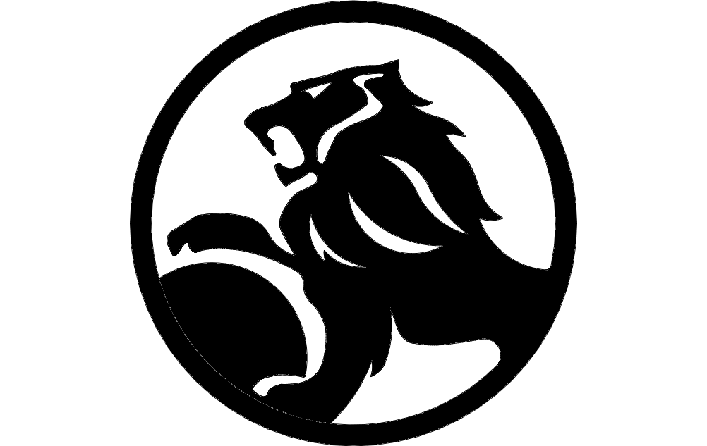 Holden Lion In Circle Free DXF File