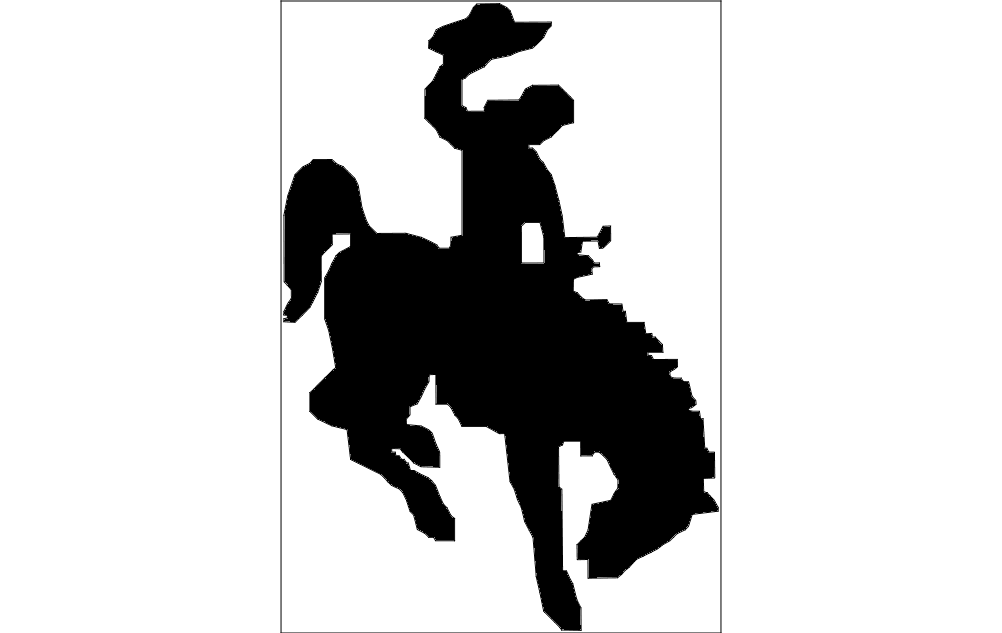 Horse And Rider Waving Hat Free DXF File