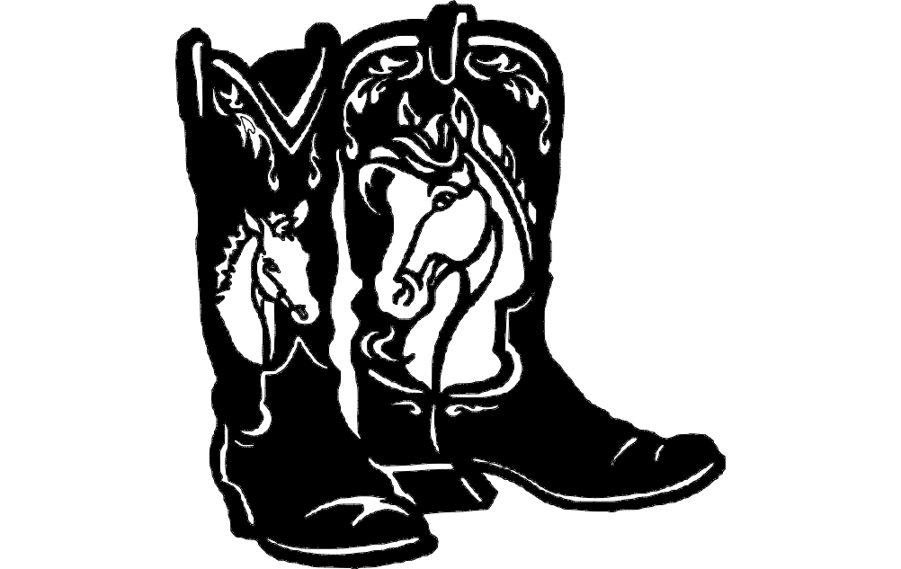 Horse Boots Free DXF File