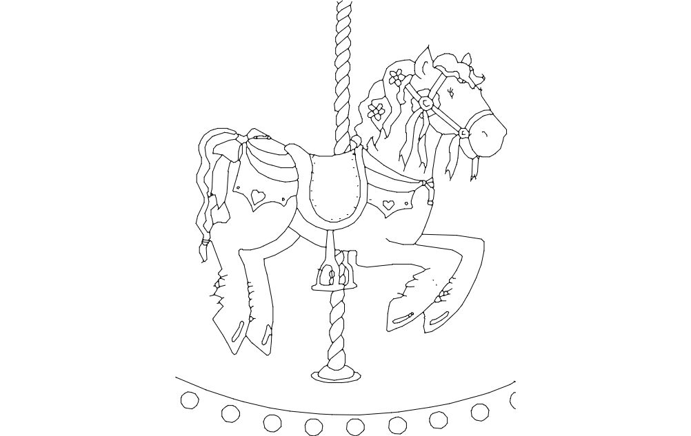 Horse Carousel Baby Free DXF File