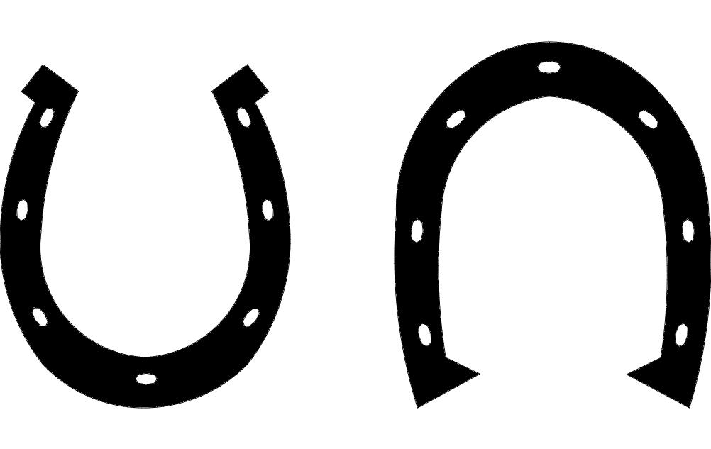 Horse Shoe Free DXF File