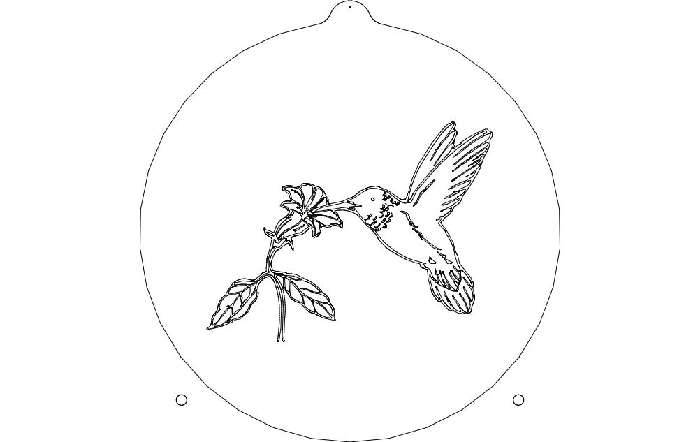 Humming Bird Sail Free DXF File