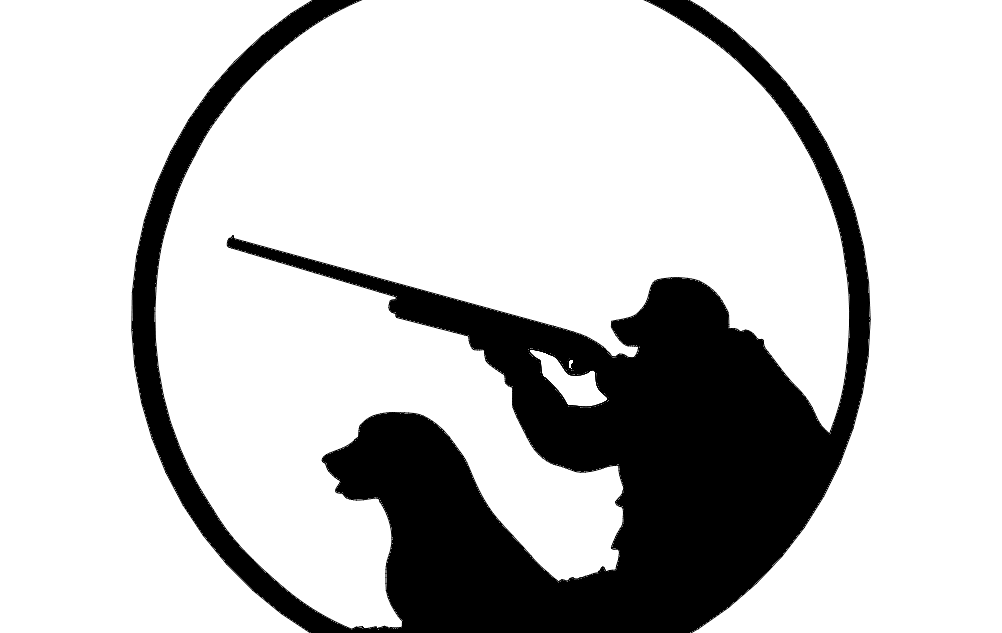 Hunter And Dog Silhouette Free DXF File