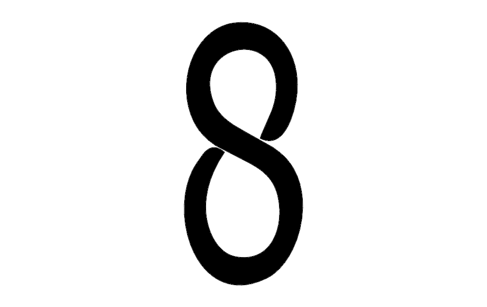 Number 8 Solid Free DXF File