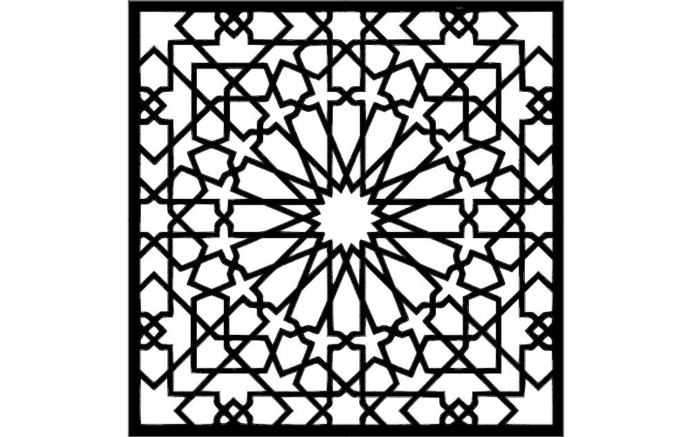 Pattern Square Art Free DXF File