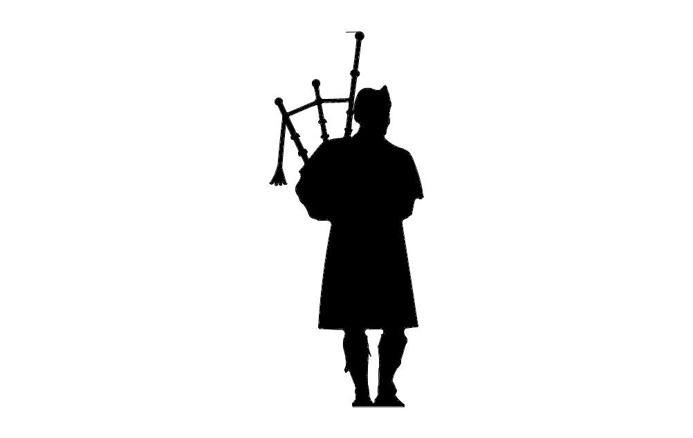Piper Silhouette Free DXF File