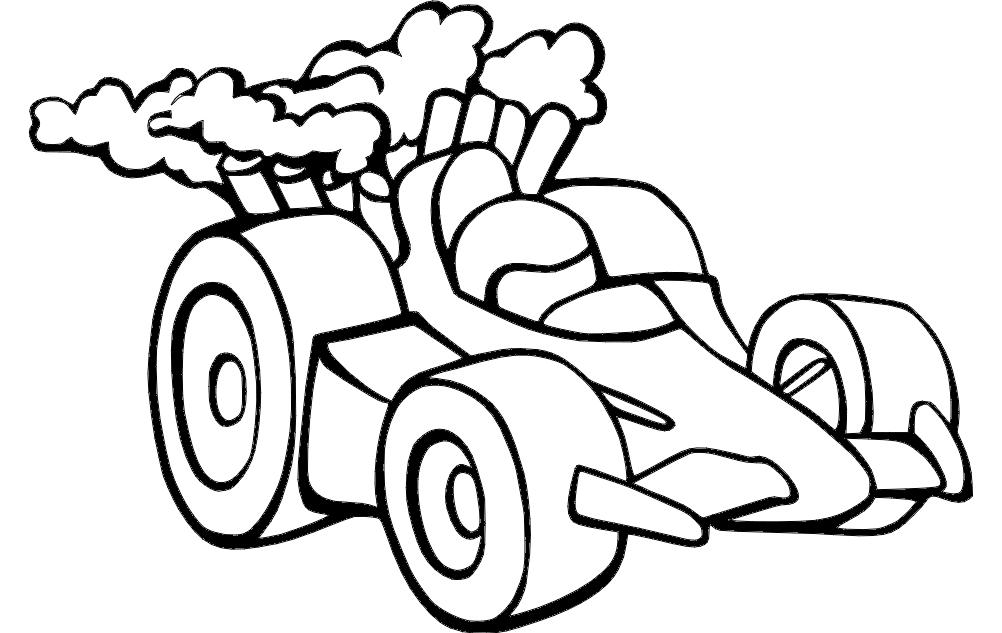 Racing Car Free DXF File
