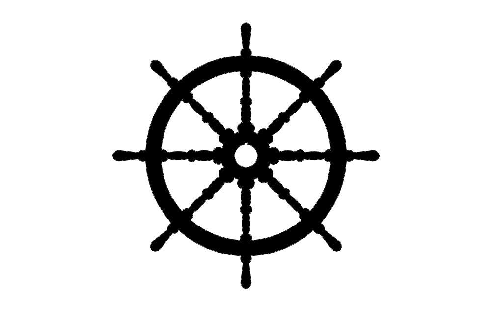 Ships Wheel Free DXF File