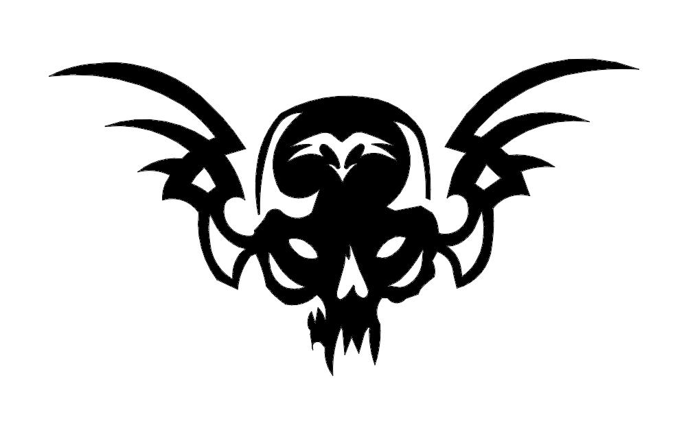 Skull 21 Silhouette Free DXF File
