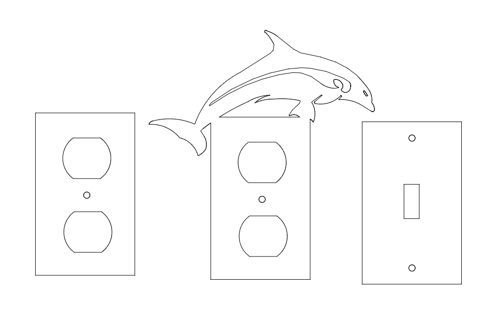 Switch Plates Free DXF File