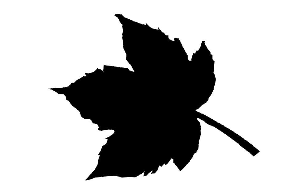 Sycamore Leaf Silhouette Free DXF File
