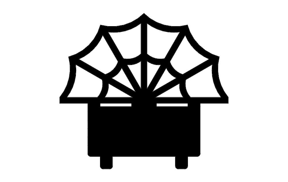 Web Card Holder Free DXF File