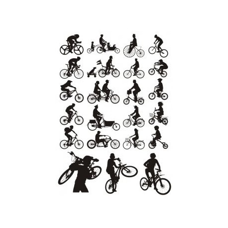 Bicycles Silhouette Free CDR Vectors Art