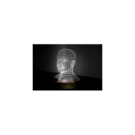 Head 3d Led NightLight Free CDR Vectors Art
