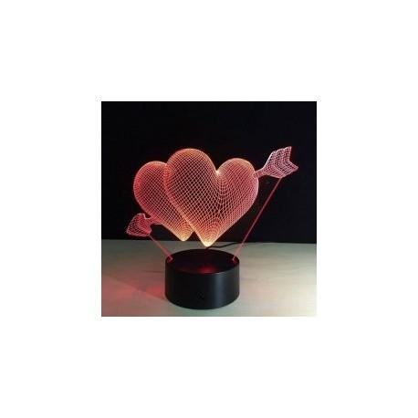 Heart 3d Led NightLight Free CDR Vectors Art
