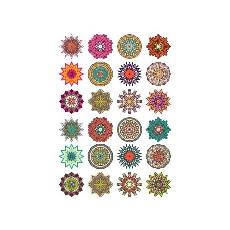 Round Floral Curly Ornament Pack Free CDR Vectors Art