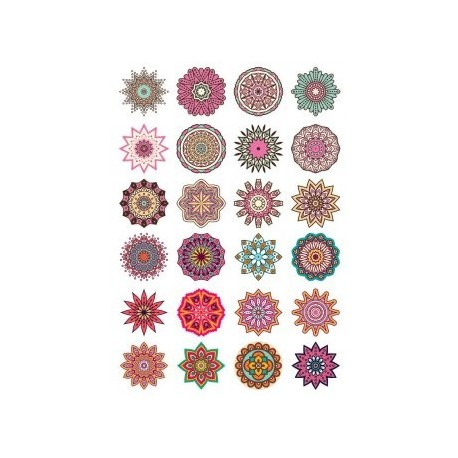 Round Ornaments Collection Free CDR Vectors Art