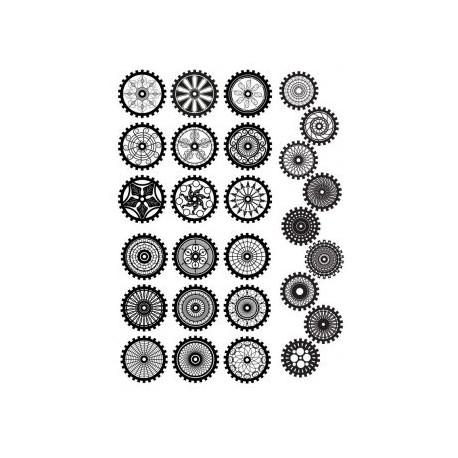 Steampunk Gear Set Free CDR Vectors Art