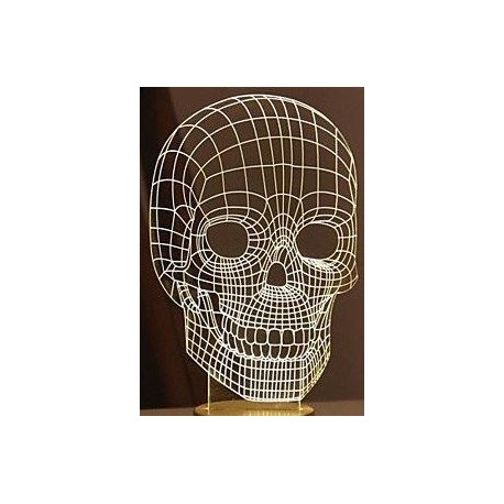 Svetilnik 3d Cherep Head Free CDR Vectors Art