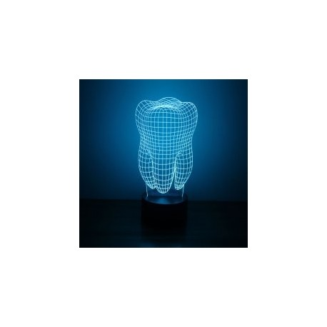 Tooth 3d Led NightLight Free CDR Vectors Art