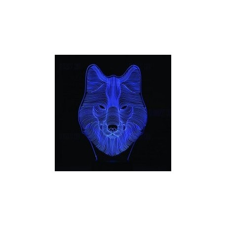 Wolf 3d Led NightLight Free CDR Vectors Art