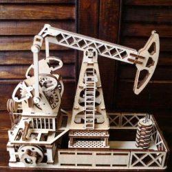 Oil Pumping Station Model For Laser Cut Cnc Free CDR Vectors Art